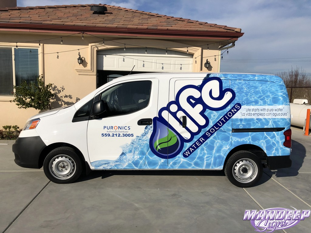 Van Wrap for Life Water Solutions by Mandeep Signs.
